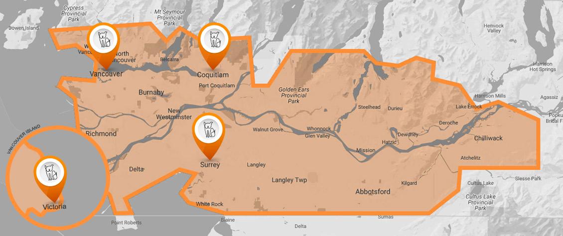VetDERM Clinic New Map